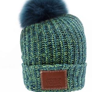 Love your melon galaxy beanie with pom